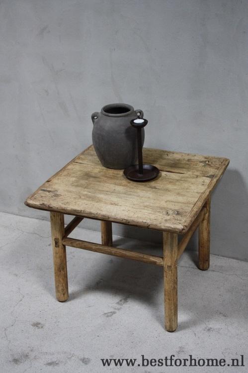 Oud Houten Tafeltje.Oude Landelijke Houten Bijzettafel Stoere Originele Tafel China No 786 Gereserveerd