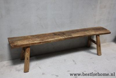 Smalle houten bank
