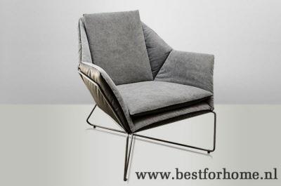 Sobere industriele fauteuil eigentijds landelijke stoel no for Industrieel fauteuil
