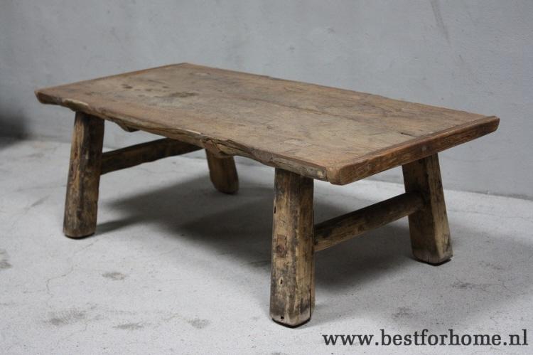 Stoer oud chinees salontafeltje unieke landelijk tafel oud hout no