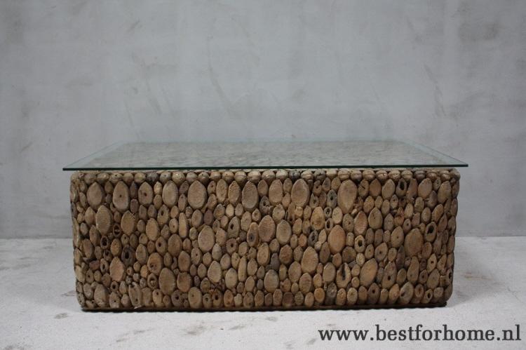 Salontafel Hout En Glas.Stoere Unieke Boomstam Salontafel Bohemian Landelijke Tafel Oud Hout Glas No 413