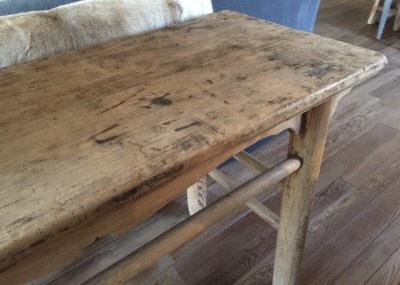Grove houten tafel set ronde grove houten eettafel plus stoelen