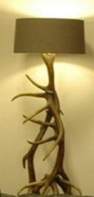Stoere landelijke staande gewei lamp vloerlamp puur chic for Lamp gewei